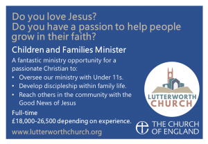 VACANCY: Children and Families Minister