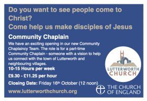 VACANCY: Community Chaplain